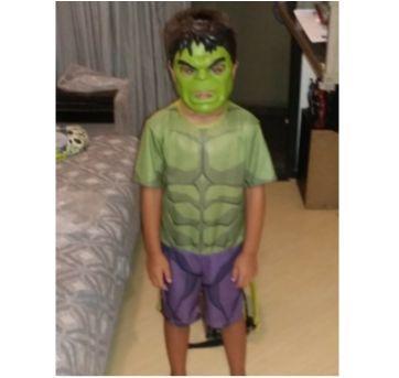 Fantasia Hulk Vingadores 4 - Tam M - Sem faixa etaria - Global Fantasias