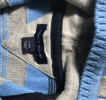 Tricot Tommy Hilfiger - 3 a 6 meses - Tommy Hilfiger