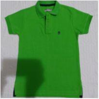 Camiseta pólo verde Tam.8