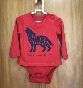 Blusa / Body vermelha Baby GAP - 12 a 18 meses - GAP