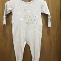 Macacão cinza Zara baby - 0 a 3 meses - Zara Baby