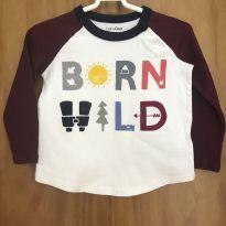 Camiseta manga longa baby GAP - 12 a 18 meses - Baby Gap
