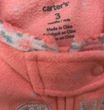 Macacão de plush Carters - 3 meses - Carter`s