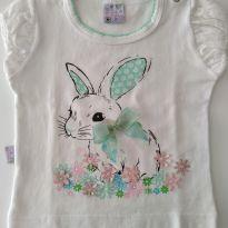 Blusa coelhinho - 6 a 9 meses - Quebra Cabeça