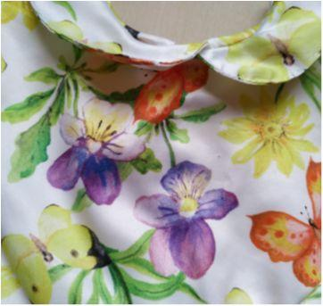 Vestido floral cetim - 6 a 9 meses - MC Baby