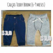 Calça imita jeans e Calça em moleton Saruel - 6 a 9 meses - Teddy Boom