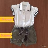Short 3 e camisa 4 EPK (cód.0304) - 3 anos - EPK