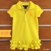 Vestido infantil Polo Ralph Lauren amarelo (cód.001) - 3 anos - Ralph Lauren