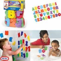 Letras e números para brincar no banho - Sem faixa etaria - Little Tikes