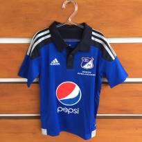 Camisa de futebol climacool Adidas Millonarios NOVA com etiqueta (cód.0564) - 7 anos - Adidas