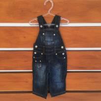 Macacão jeans Zara Baby (cód.0577) - 6 a 9 meses - Zara Baby e Zara