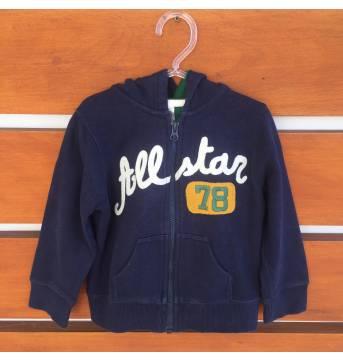 Casaco de moletom azul marinho Allstar 78 Carter's (cód.0575) - 4 anos - Carter`s