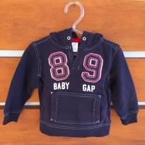 Casaco de moletom azul marinho 89 babyGap (cód.0613) - 6 a 9 meses - Baby Gap e GAP