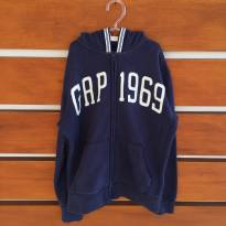 Casaco de moletom azul marinho Gap 1969 GapKids L (cód.0614) - 10 anos - GAP