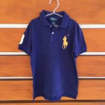 Camisa pólo azul Polo by Ralph Lauren (cód.0608) - 7 anos - Ralph Lauren e Polo
