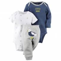 Conjunto com dois bodies e uma calça Carter`s (cód. 0227) - 6 meses - Carter`s
