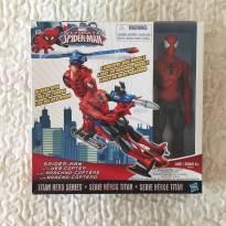 Homem-Aranha com aracno-cóptero NOVO!!! -  - Hasbro
