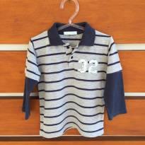 Camisa pólo listrada de manga comprida Babies (cód.0611) - 2 anos - Babies