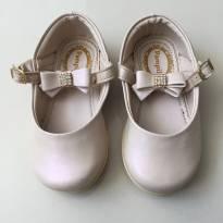 Sapatinho branco rosado Pampili (cód.0344) - 22 - Pampili