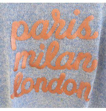 Blusa de linha PARIS MILAN LONDON H&M (cód.0690) - 4 anos - H&M