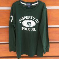 Blusa de manga comprida verde musgo Polo Ralph Lauren (cód. 0699) - 7 anos - Ralph Lauren