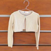 Bolero de tricot levemente dourado H&M (cód.0707) - 2 anos - H&M