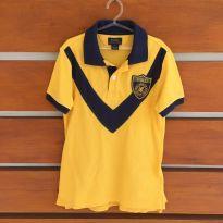 Camisa polo amarela com escudo Polo Ralph Lauren (cód.0494) - 7 anos - Polo Ralph Lauren e Ralph Lauren