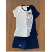 Conjunto infantil feminino para jogar tênis Adidas by Stella McCartney(cód.0798) - 7 anos - Adidas e Stella McCartney