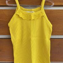 Blusa ribana amarela Fábula (cód.0805) - 6 anos - Fábula