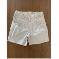 Short bege de bolinhas brancas H&M (cód.0803) - 3 anos - H&M