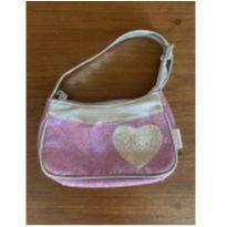 bolsinha rosa com coração prateado muito brilho (cód.0830) -  - Expression