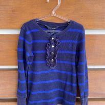 Blusa de manga comprida listrada azul Ralph Lauren (cód.0824) - 4 anos - Ralph Lauren