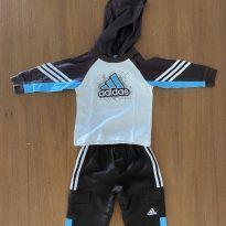 Conjunto de calça e blusa de manga comprida Adidas (cód.0839) - 1 ano - Adidas
