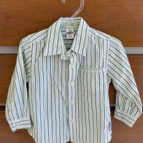 Camisa listrada Zara Baby (cód.0842) - 9 a 12 meses - Zara e Zara Baby