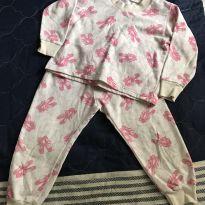 Pijama Laços - 18 a 24 meses - Não informada