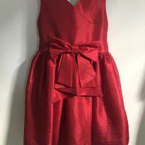 Vestido vermelho de festa - 3 anos - Nina menina