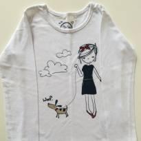 Camiseta a menina e o cachorrinho - 3 anos - Tip Top