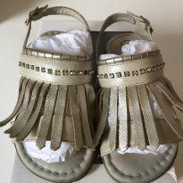 Sandália cristal e franjas - 25 - gambo