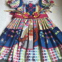 Vestido caipira customizado - 6 anos - Alphabeto
