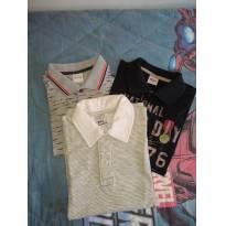 Kit camisas pólo - 8 anos - PUC e Elian