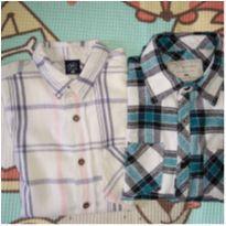 kit duas camisas xadrez - 12 anos - Malwee e Hering Kids
