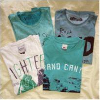 4 camisetas seminovas!!! tamanho 12