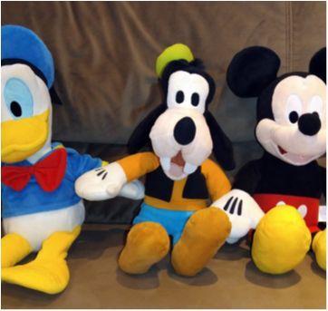 Mickey, Donald e Pateta de pelúcia com som - Sem faixa etaria - Multikids Baby