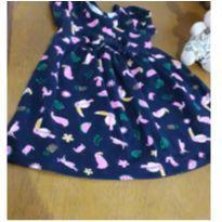 Vestido flamingos - 1 ano - Rovitex