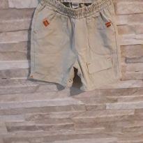 Shorts bege - 0 a 3 meses - Não informada
