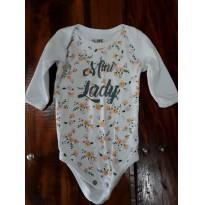 Body Mini Lady - 0 a 3 meses - Clube do Dino