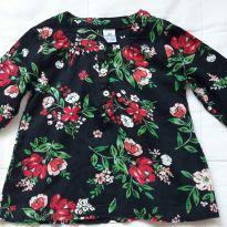 Blusa com estampa floral Carters - Que lindeza! - 2 anos - Carter`s