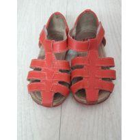 Sandália de couro Babo Uabu vermelha - Conforto para as pequenas - 22 - Babo Uabu