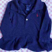 Blusa gola polo Ralph Lauren - 9 meses - Ralph Lauren
