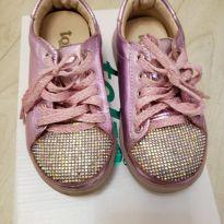 Tênis em couro Pink - 25 - Toke